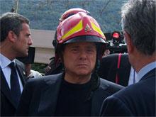 Berlusconi a L'Aquila