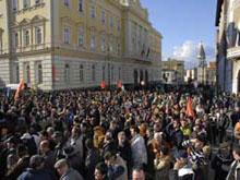 Protesta studenti e lavoratori