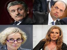 Melandri, D'Alema, Santanchè, Alfano