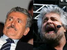 Grillo e D'Alema